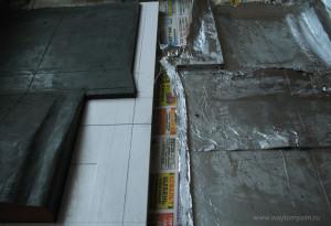 Готовая форма и пластилиновая основа