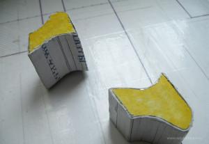 Готовая высохшая форма разрезанная надвое